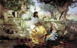 Семирадский Генрих Христос у Марфы и Марии