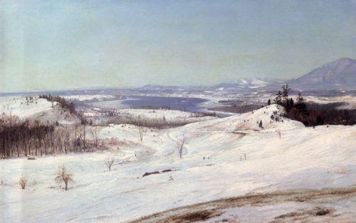 Вид с Олан на снега