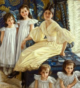 Тиссо Джеймс Портрет комтессы Дьянвиль с ее четырьмя детьми