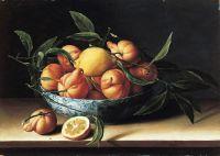 Натюрморт с миской апельсинов кюрасао