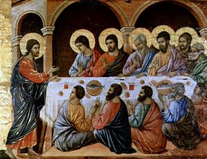 """Маэста"" - Явление Христа, ужинающим апостолам"