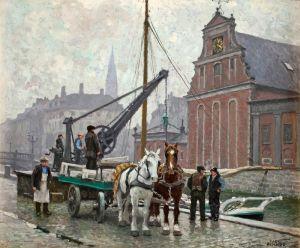 Фишер Поль Густав Возле церкви в Гольмени, Дания