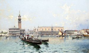 Унтербергер Франц Рихард View of the grand bassin in Venice