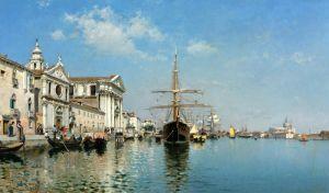 Дель Кампо Федерико Ла-Кьеза-Джезуати на Канале делла-Джудекка, Венеция