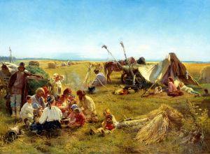 Маковский Константин Крестьянский обед в поле