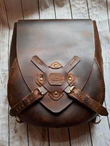 Рюкзак ручной работы Рюкзак из кожи в стиле дизельпанк