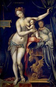 Печатные картины на холсте Аллегория милосердия 2
