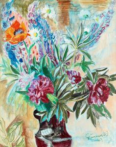 Экспрессионизм Цветочный натюрморт №6