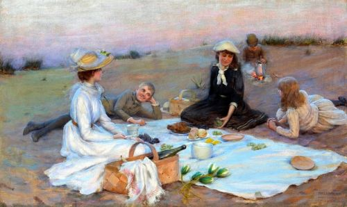 Вечерний пикник на песчаных дюнах
