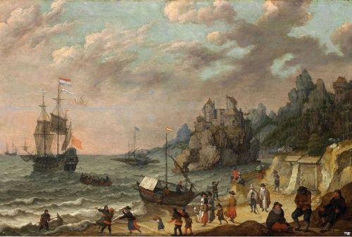 Голландский торговый корабль в гавани