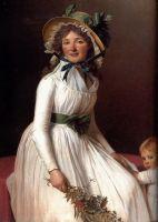 Мадам П'єр Серизи (у дівицтві Емілія Пікуль) з сином Емілем