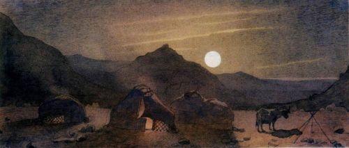 Лунная ночь среди гор - изображение 1