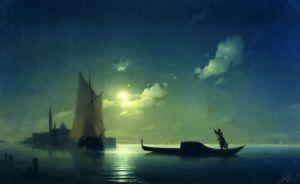Айвазовский Иван Гондольер на море ночью