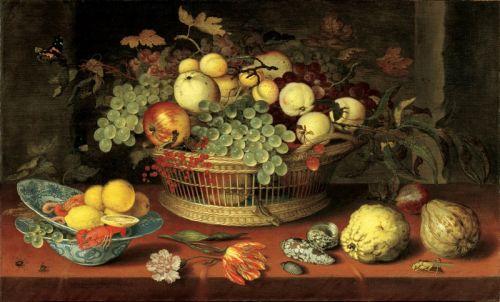 Натюрморт с корзиной фруктов