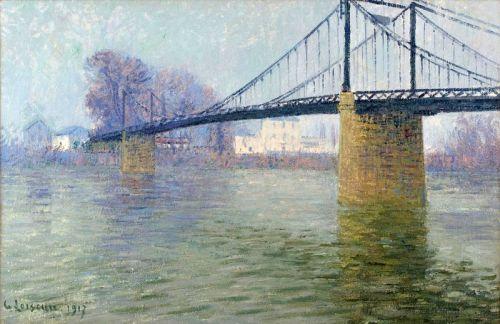 Подвесной мост в Триэль-сюр-Сен