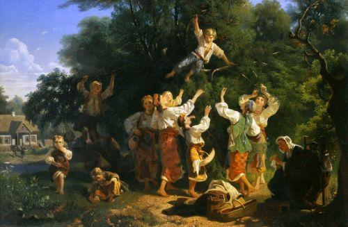 Сбор вишни в помещичьем саду