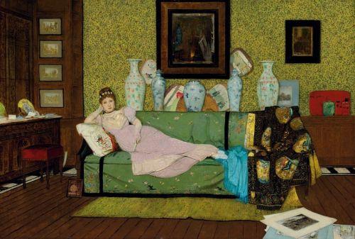 Картины в доме художников