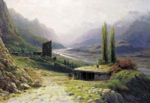 Лагорио Лев Кавказское ущелье