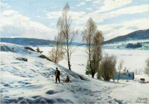 Менстед Петер Зимний день в Однес, Норвегия