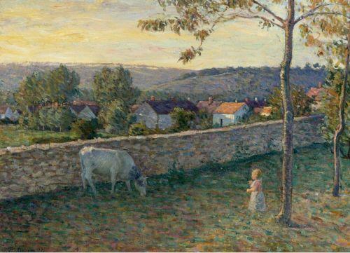 Ребенок на травнике в Пьерфон, Франция