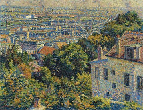 Монмартр, улица Корто, вид на Сен-Дени