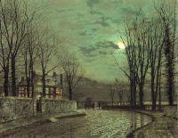 Лесной переулок в лунном свете