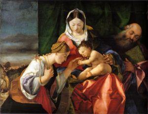 Лотто Лоренцо Мистический брак Святой Екатерины