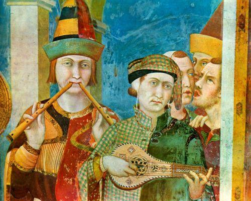 Saint martin est fait chevalier dgtail fresque