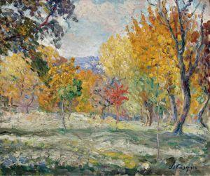 Лебаск Анри Пейзаж с деревьями