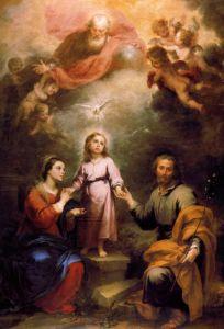 Мурильо Бартоломе Эстебан Небесная и Земная Троицы