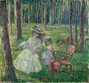 Лебаск Анри Мать с дочерью в парке