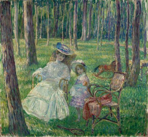 Мать с дочерью в парке