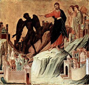 """Готика """"Маэста"""" - Пределы со сценами Искушения Христа"""