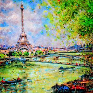 Эйфелевая башня и Сакре-Кер в Париже