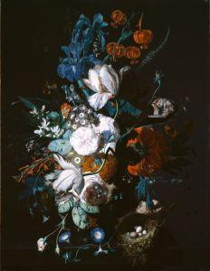 Хейсум Ян ван Ваза с цветами