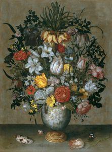 Китайская ваза с цветами