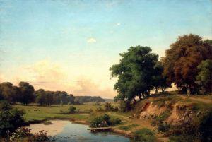 Пейзаж з прудиком