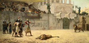 Бриджман Фредерик Артур Отвлечение ассирийского короля