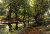 Річка в долині і олені