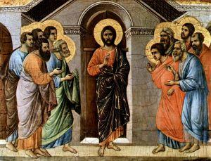 """Готика """"Маэста"""" - Явление Христа апостолам сквозь закрытые двери"""