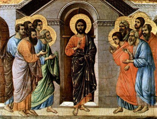 """""""Маэста"""" - Явление Христа апостолам сквозь закрытые двери"""