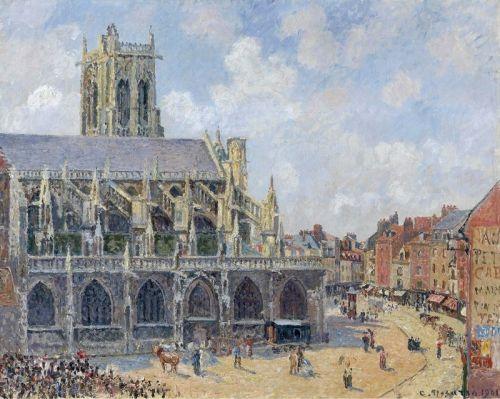 Церковь Сен-Жак Дьепп в воскресенье утром
