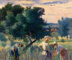 Женщины вяжут виноград