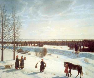 Коровин Константин Зимний пейзаж