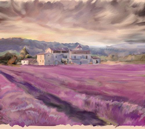 Сиреневое поле