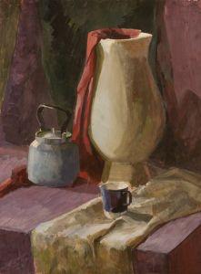 Натюрморт с белой вазой