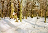 Діти граються в снігу