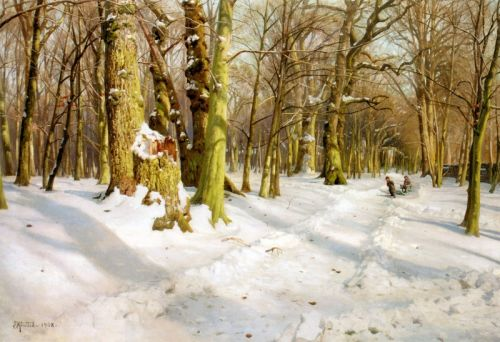 Дети играют в снегу