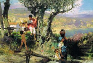 Семирадский Генрих Рим. Деревня