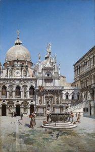 Дель Кампо Федерико Innenhof Palazzo Ducale Venedig